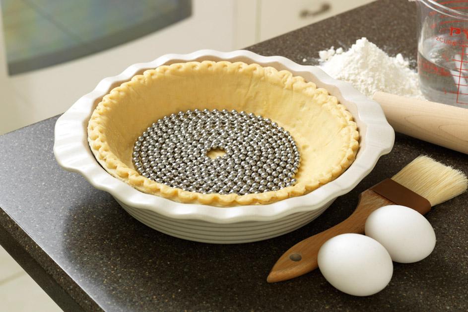 Pie Weight Chain on kitchen counter
