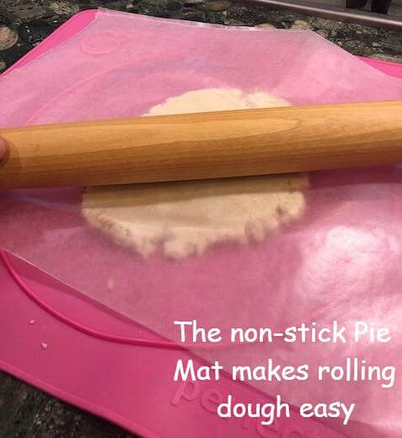 Pie dough on mat