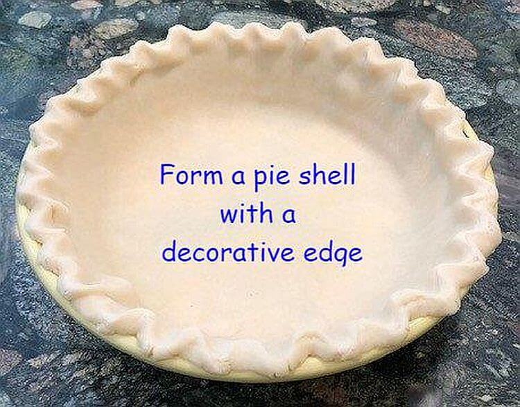 Pie shell with decorative edges
