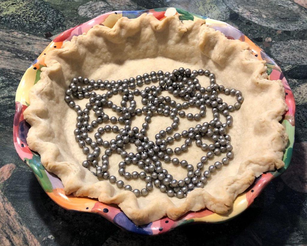 pie chains blind-baking
