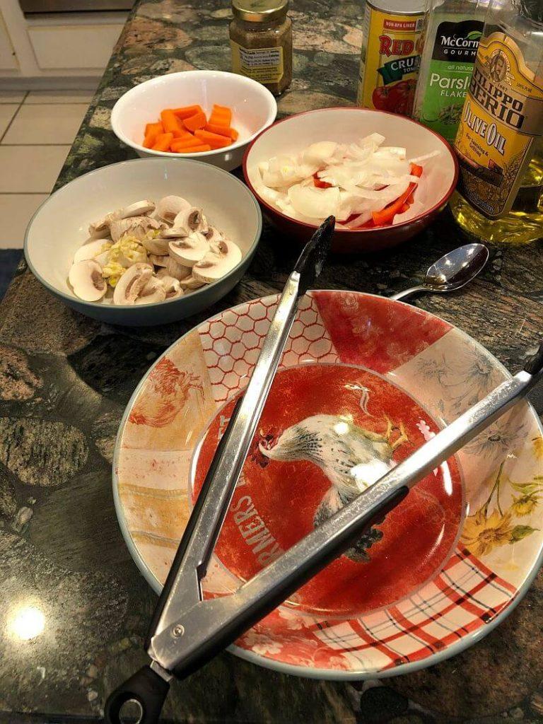 Chicken Cacciatore ingredients